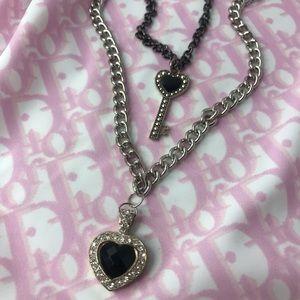 Jewelry - handmade sacred black hearts necklace